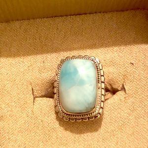 Jewelry - 💍💍BEAUTIFUL 925 LARIMAR RING SKY BLUE💍💍
